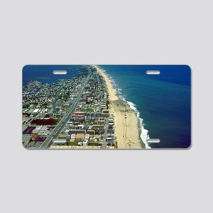 Aerial View of Ocean City M Aluminum License Plate
